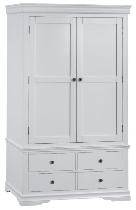 Stratford Grey Painted Gents Wardrobe